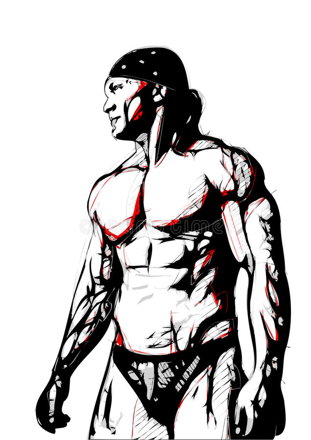 Bodybulider stock illustration