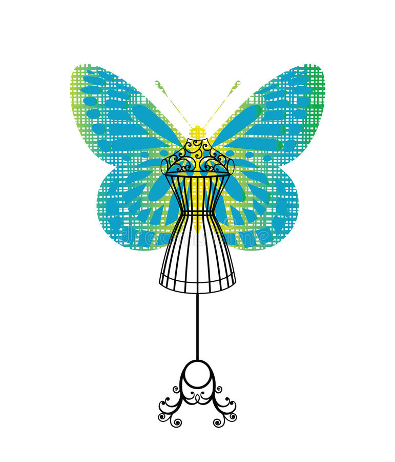 Download Bodyform Mannequin With Butterfly Stock Vector - Image: 13980035