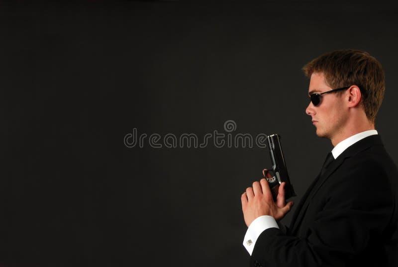 Bodygard com um pistole fotografia de stock royalty free