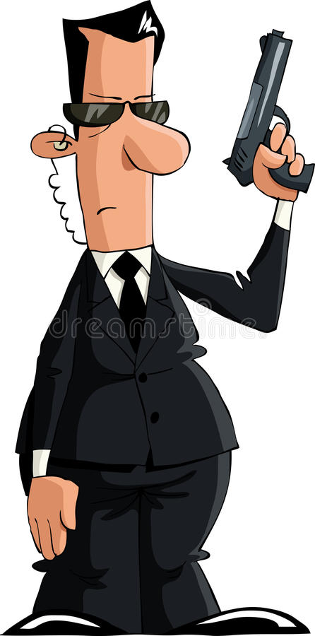 Download Bodyguard stock vector. Image of cartoon, illustration - 21877708