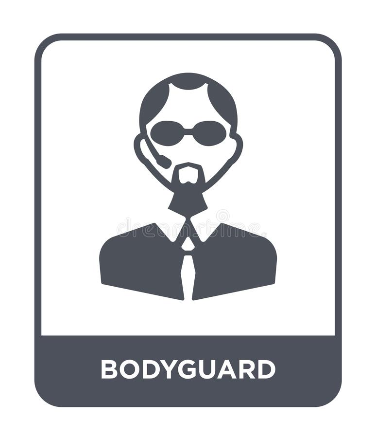 bodyguard icon in trendy design style. bodyguard icon isolated on white background. bodyguard vector icon simple and modern flat royalty free illustration