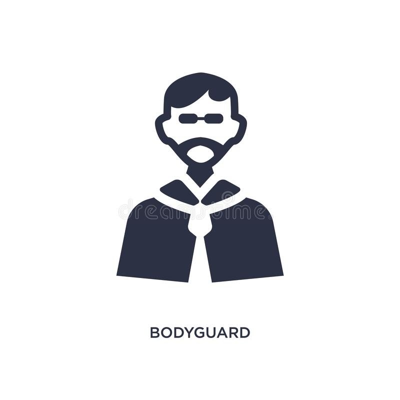 bodyguard icon on white background. Simple element illustration from discotheque concept royalty free illustration