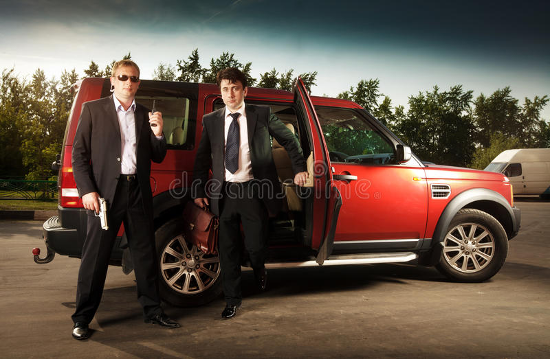 Download Bodyguard and its boss stock image. Image of safety, service - 22841939