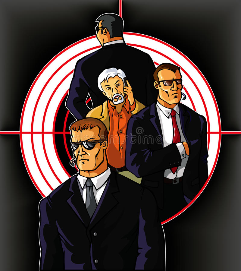 Download Bodyguards stock vector. Image of protection, people - 31378664