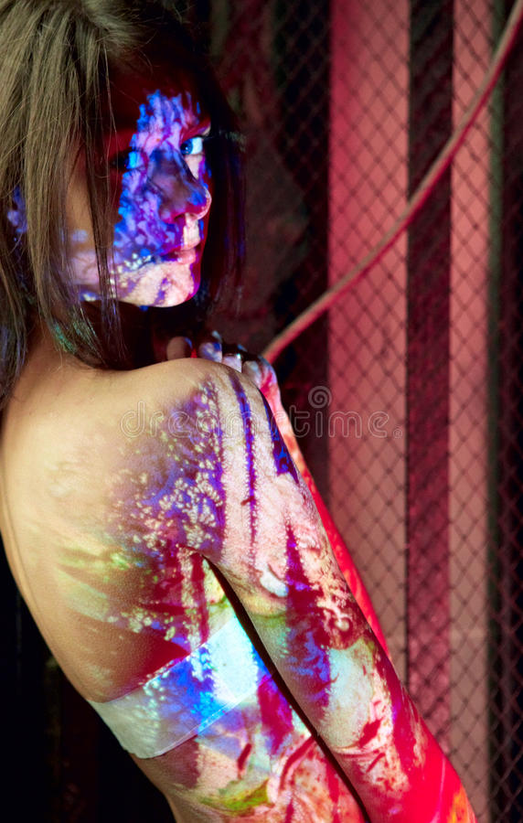 Download BodyPaint female; stock photo. Image of fairy, monster - 16439072