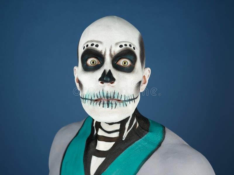 Bodypainted мужчина стоковая фотография