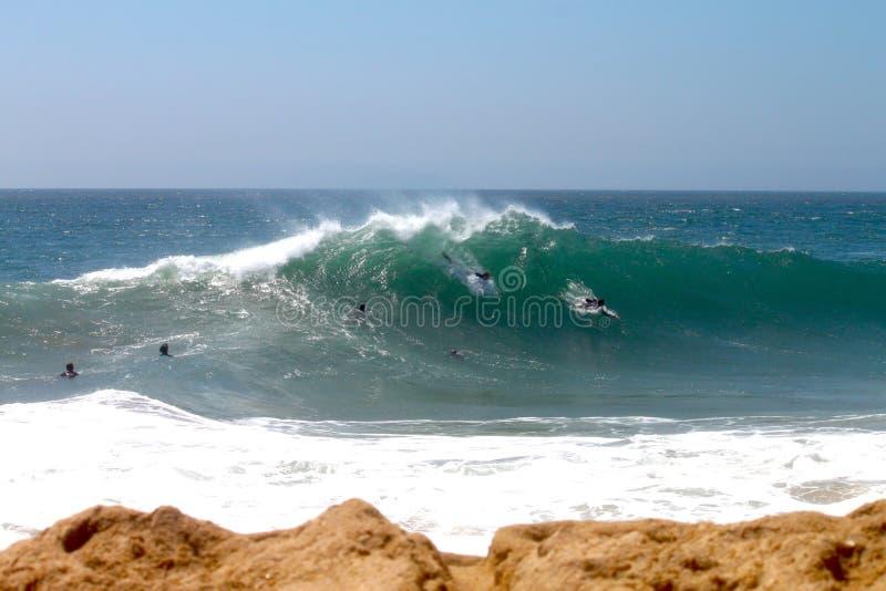 bodysurfers楔子 库存照片