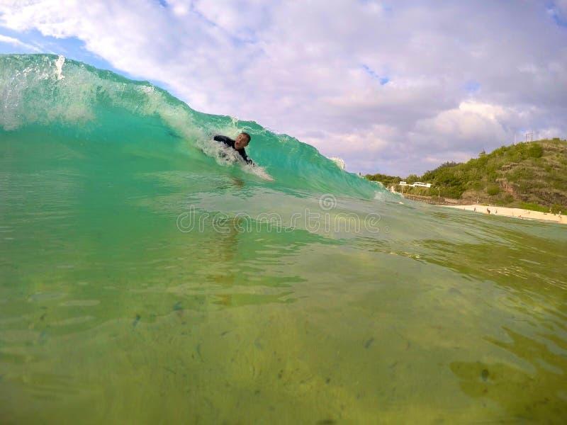 Bodysurfing Hawai fotografie stock libere da diritti