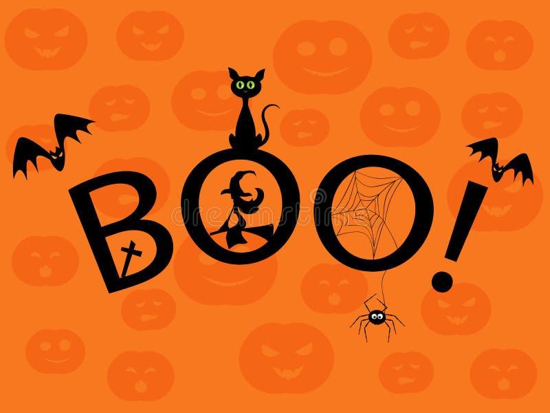 Boe-geroep! vector illustratie