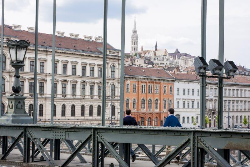 Boedapest, één van de mooiste Europese stad stock afbeeldingen