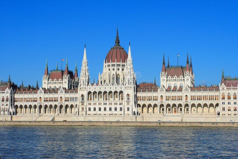 Boedapest, de bouw van het Parlement stock foto's