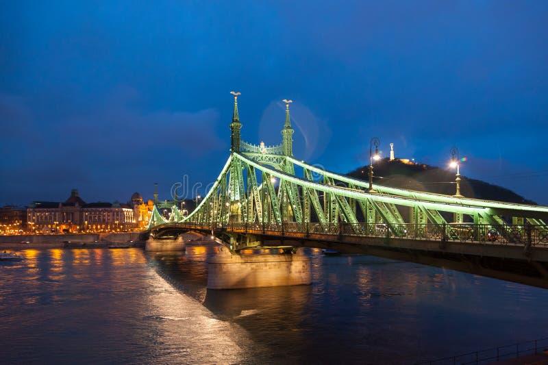 Boedapest Liberty Bridge royalty-vrije stock fotografie