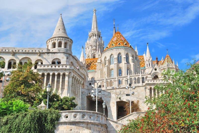 Boedapest. St. Matthias kerk stock foto's