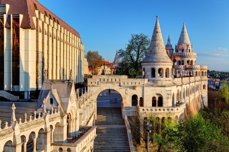 Boedapest - Vissersbastion bij zonsopgang royalty-vrije stock afbeeldingen