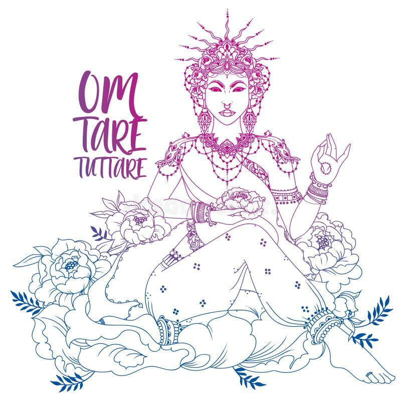 Boeddhisme goddes Tara royalty-vrije illustratie