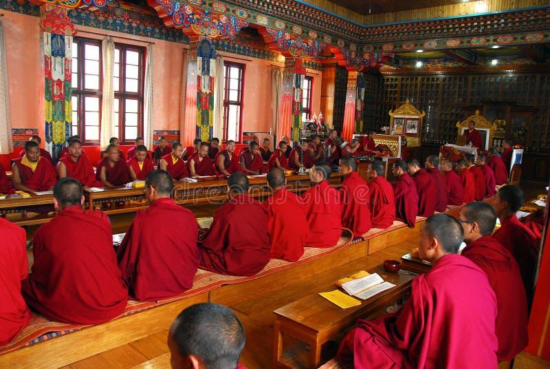 Boeddhisme in India stock afbeelding