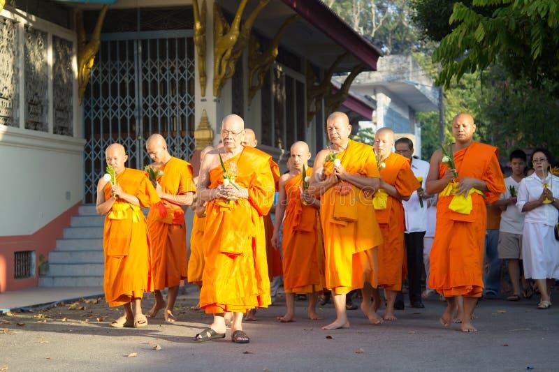Boeddhisme Magha Puja Day stock afbeelding