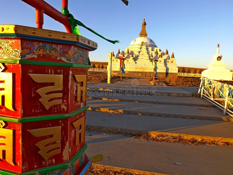 Boeddhistisch gebedwiel royalty-vrije stock foto