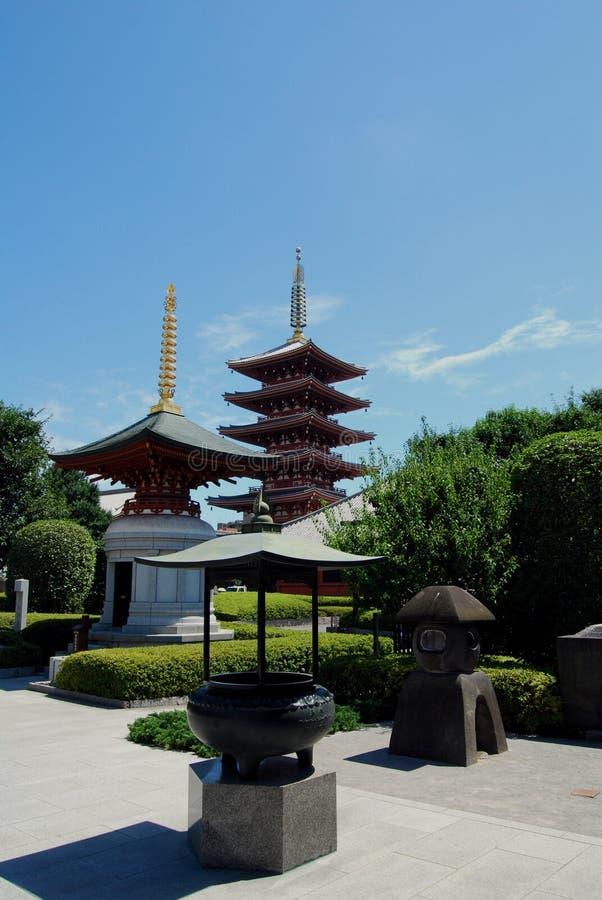 Boeddhistisch heiligdom. Asakusa. Tokyo Japan. stock afbeeldingen