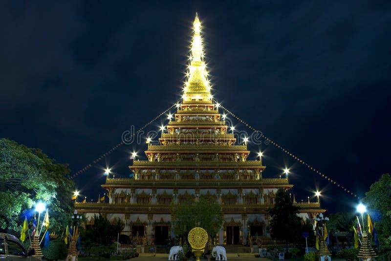 Boeddhistisch khonkaen binnen Thailand. royalty-vrije stock fotografie