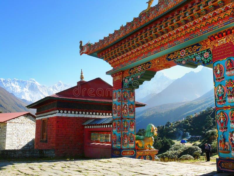 Boeddhistisch Klooster Himalayagebergte stock foto