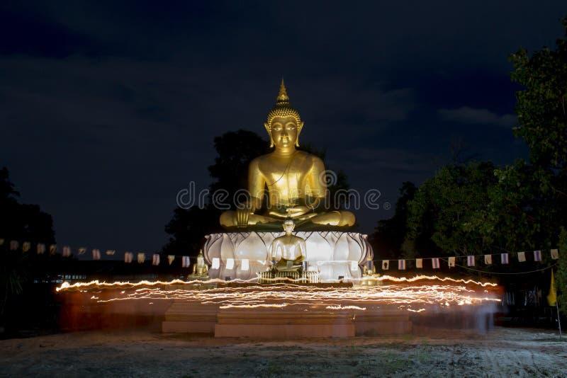 Boeddhistisch kwam in de dag van belangrijke Boedha vieren royalty-vrije stock foto's