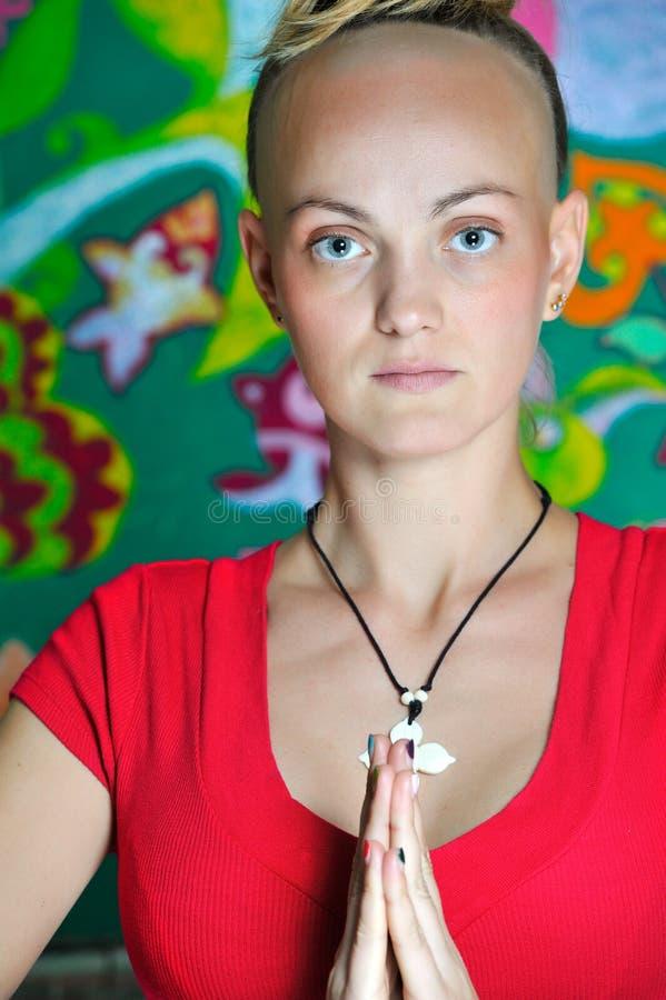 Boeddhistisch meisje royalty-vrije stock fotografie