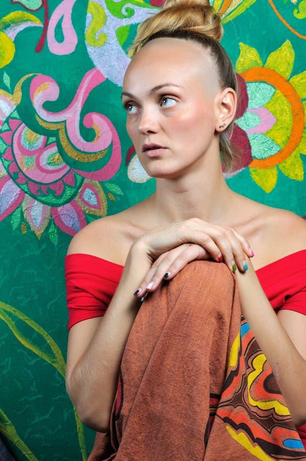 Boeddhistisch meisje stock fotografie