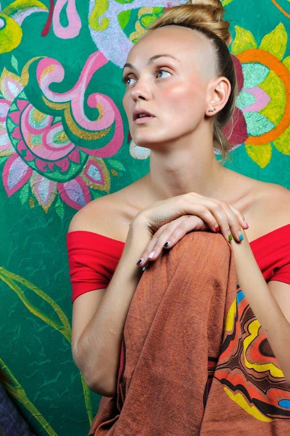Boeddhistisch meisje stock foto