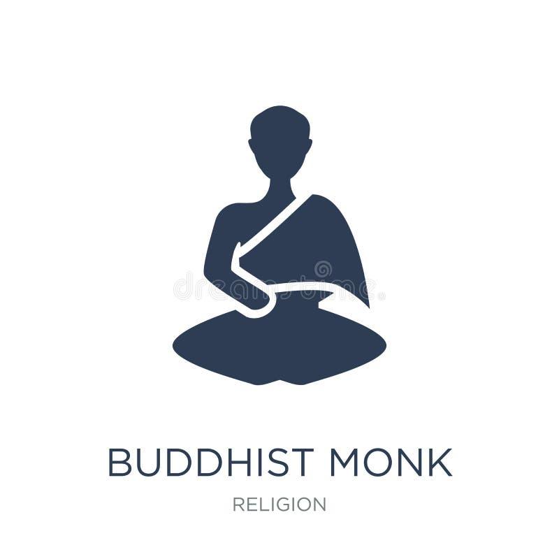 Boeddhistisch monnikspictogram  royalty-vrije illustratie