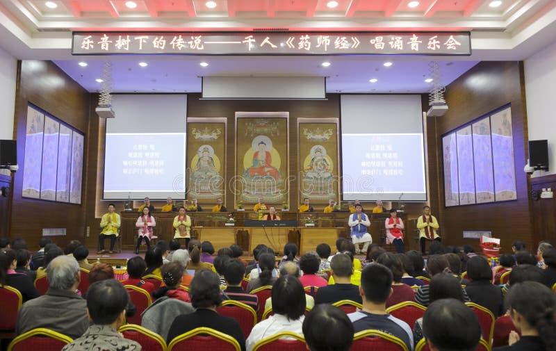 Boeddhistisch overleg royalty-vrije stock afbeelding