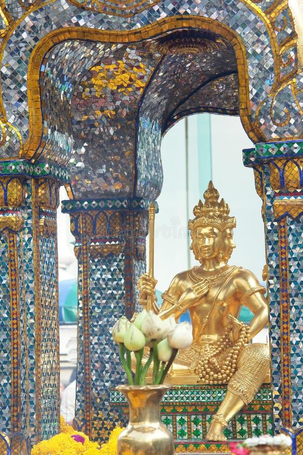 Boeddhistisch tempeldetail in Bangkok Thailand royalty-vrije stock afbeeldingen