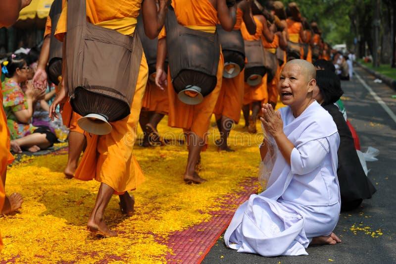 Boeddhistische Bedevaart royalty-vrije stock fotografie