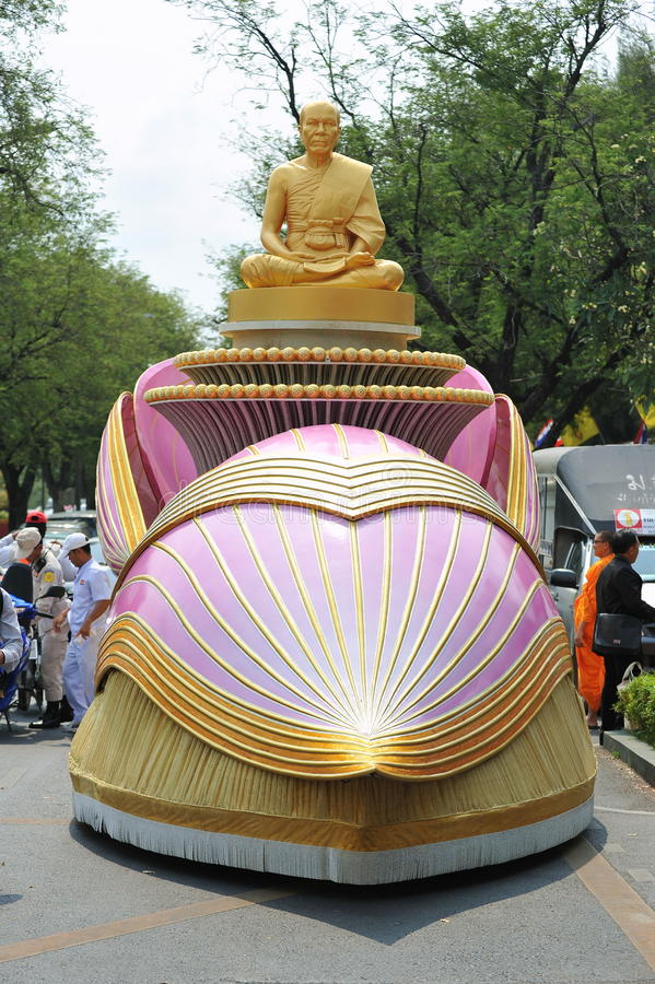 Boeddhistische Bedevaart stock afbeeldingen