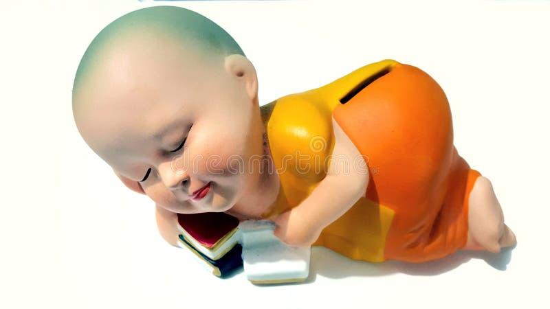 Boeddhistische beginnerpop royalty-vrije stock afbeelding
