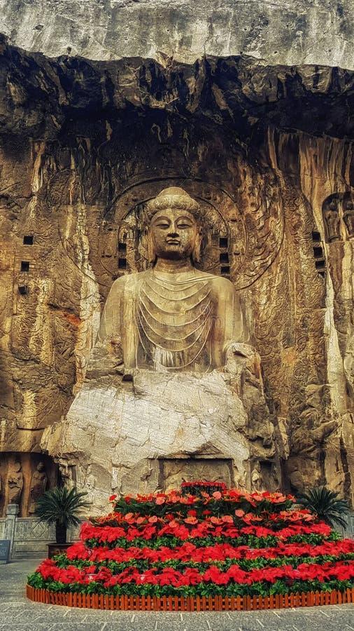 Boeddhistische de Holen of de Drakenpoortgrotten van Longmen, Louyang, Henan, stock foto