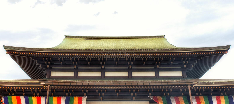 Boeddhistische de tempel hoofdzaal van Naritasanshinshoji royalty-vrije stock foto's