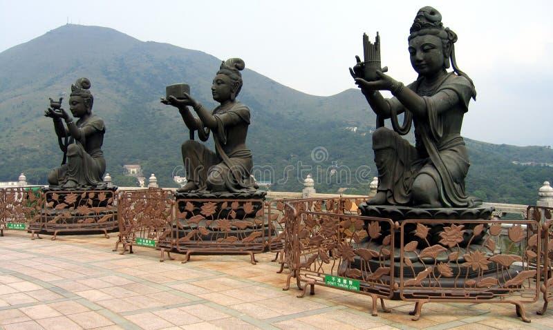 Boeddhistische deities royalty-vrije stock afbeeldingen