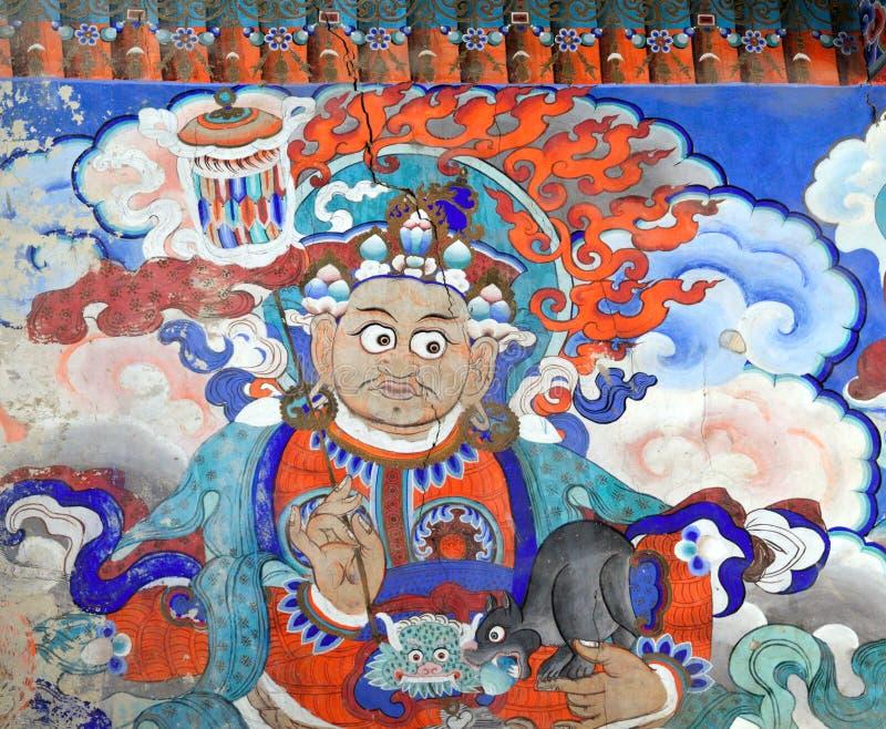 Boeddhistische fresko stock afbeeldingen