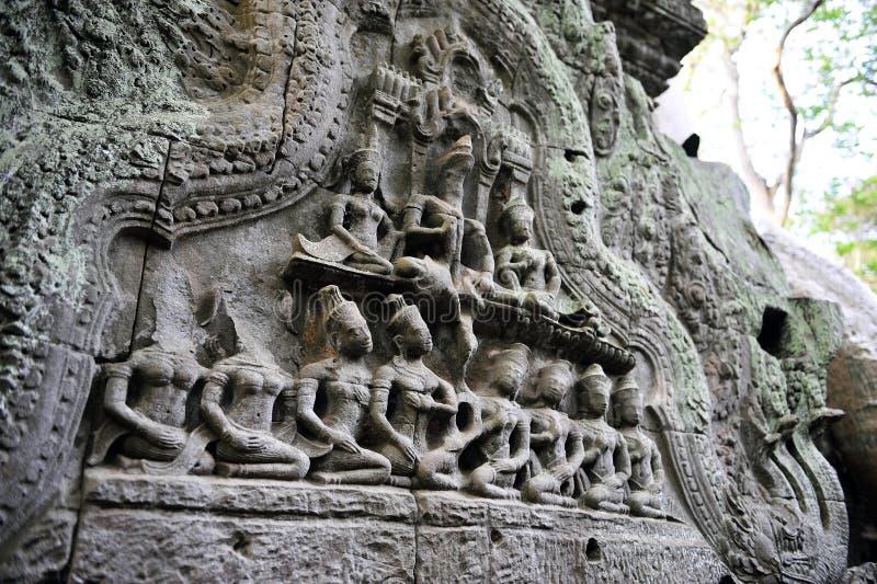 Boeddhistische gravure stock foto's