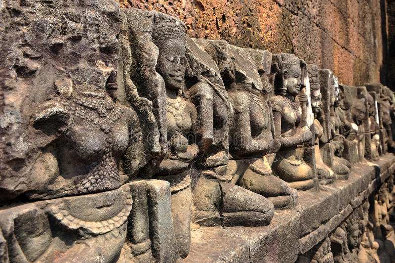 Boeddhistische gravure stock fotografie