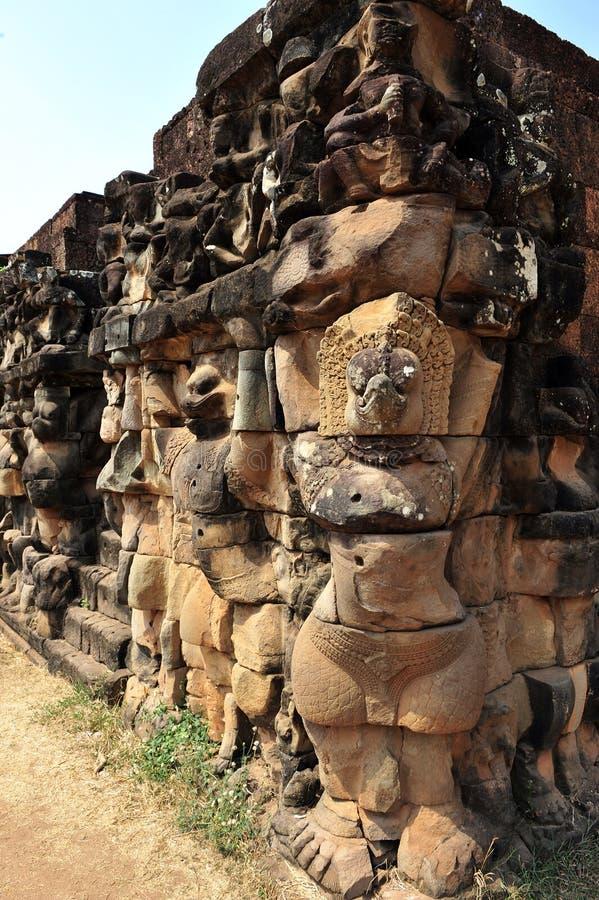 Boeddhistische gravure stock foto