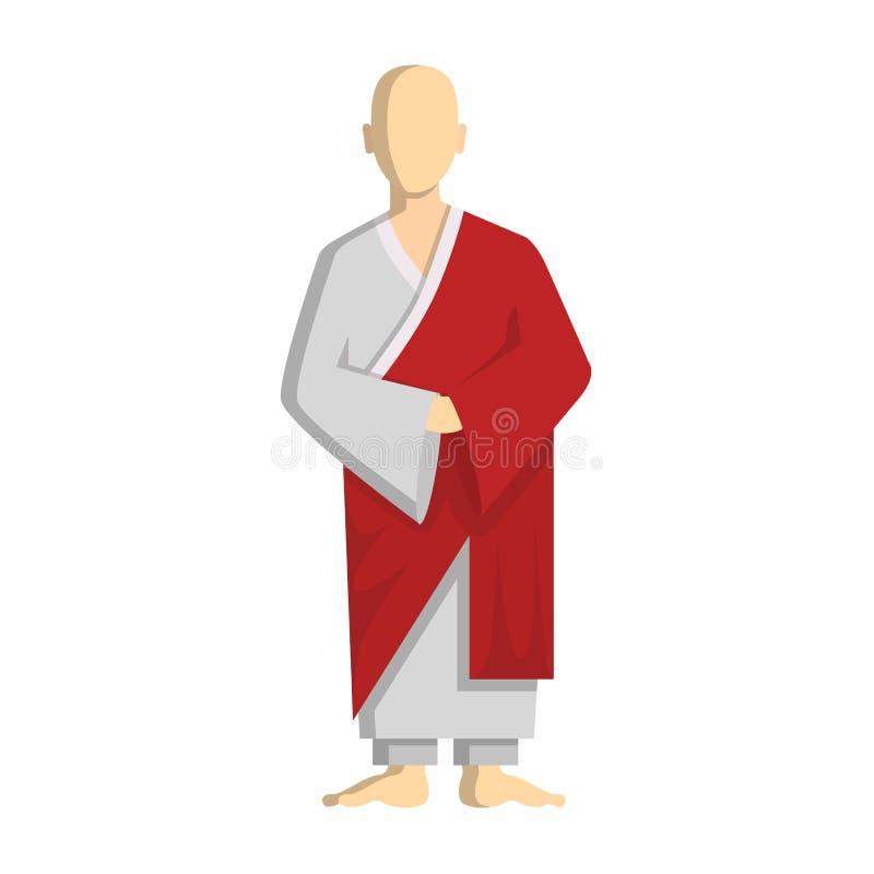 Boeddhistische Monnik vector illustratie