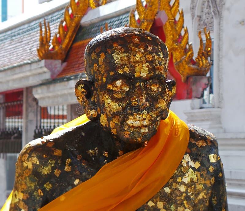 Boeddhistische Monnik Statue in Wat Hua Lamphong royalty-vrije stock foto's