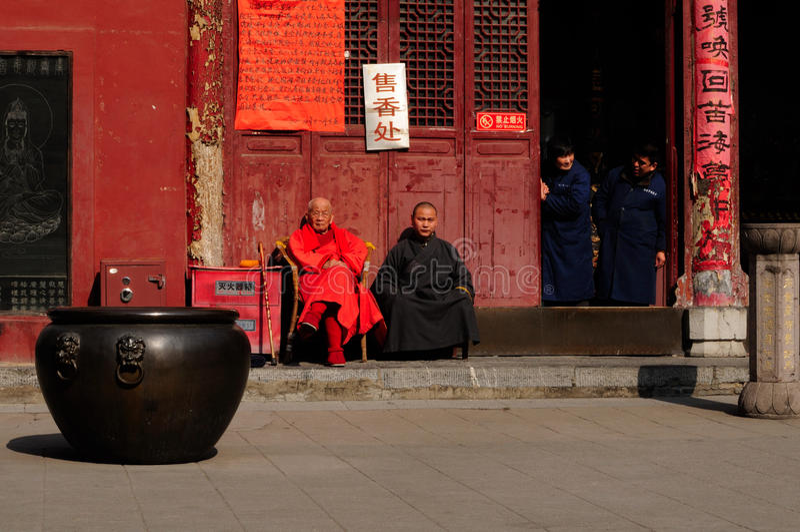 Boeddhistische monniken royalty-vrije stock fotografie