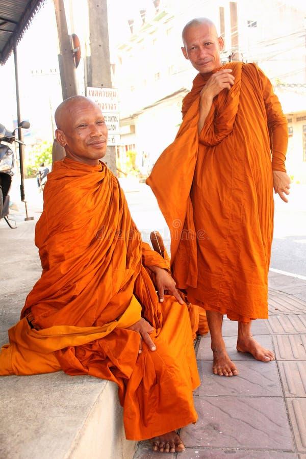 Boeddhistische Monniken in Thailand stock afbeelding