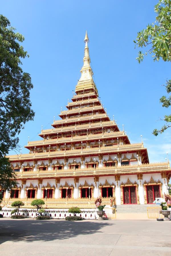 Boeddhistische pagode, Wat Nongwang stock afbeeldingen