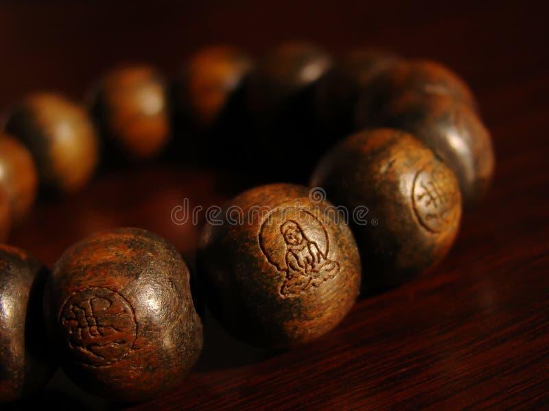 Boeddhistische parels stock afbeelding