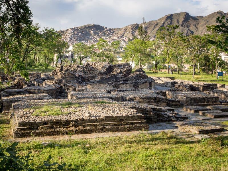 Boeddhistische ruïnes Mingora Pakistan royalty-vrije stock foto