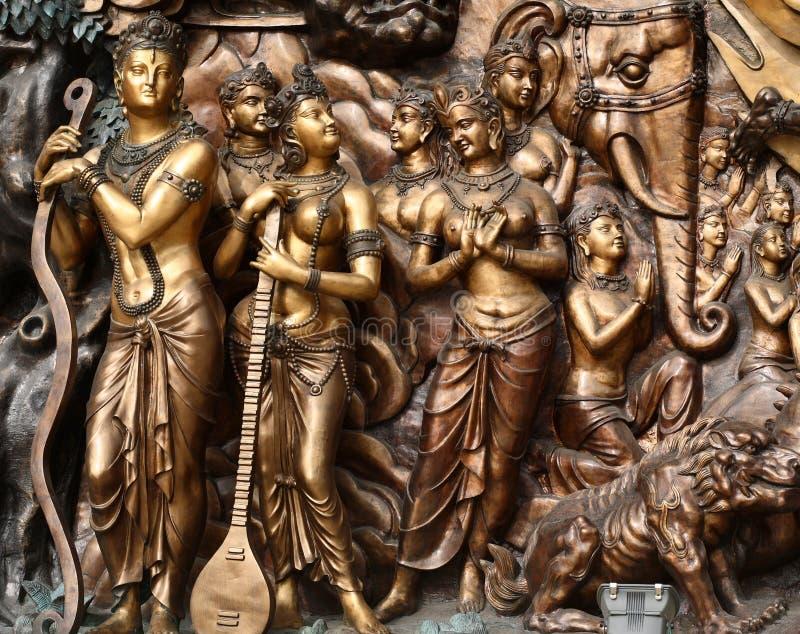 Boeddhistische standbeelden royalty-vrije stock fotografie